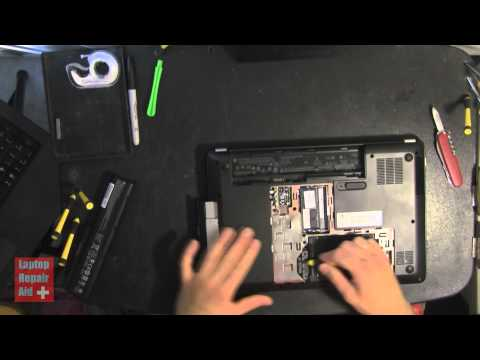 HP G4 how to remove battery hard drive memory dvd