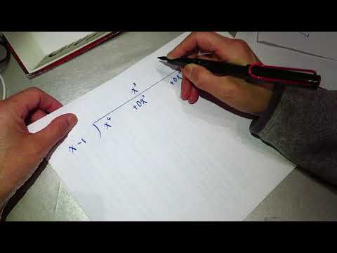 High school math - polynomial long division 02, asmr?