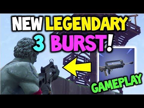 FORTNITE NEW *BURST AR* Early GAMEPLAY! - New FAMAS Legendary + Epic 3 BURST! - Battle Royale - STW