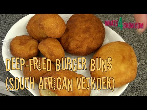 Deep-Fried Burger Buns - South African Vetkoek, Crispy on the Outside, Soft on the Inside!!!
