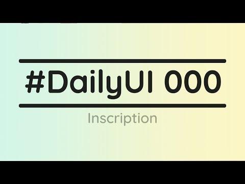 #DailyUI - Début du défi 100 jours