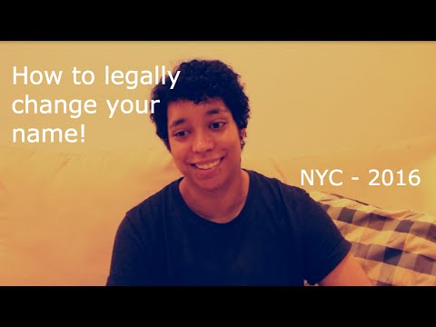 How to legally change your name in NYC (non-binary/trans)