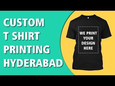 Custom T Shirt ( No Minimum ) Printing India | T Shirt Printing Hyderabad | India