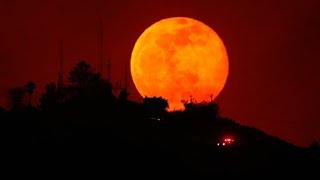 Blood Moon burns bright all around the globe ahead of total eclipse
