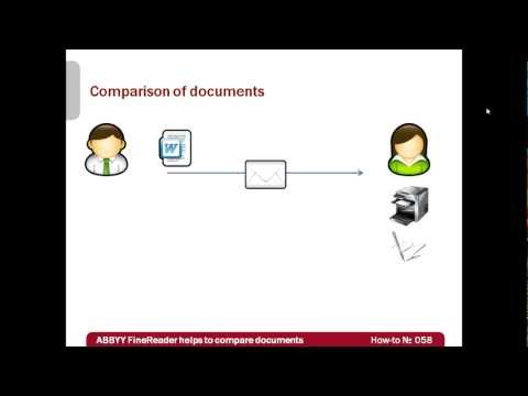 How-to No. 58 — ABBYY FineReader 11 helps to compare documents