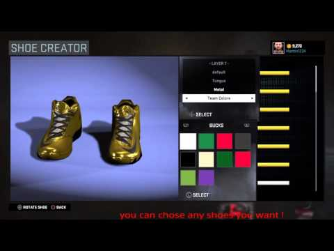 How To Create gold shoes in Nba 2k16