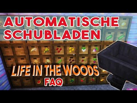 LIFE IN THE WOODS Schubladen die Automatisch sortieren! Der Drawer / Controller - Minecraft FAQ