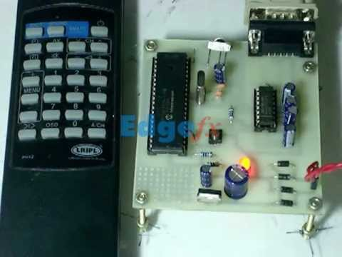 Using TV Remote as a Cordless Mouse for the Computer by Microcontroller