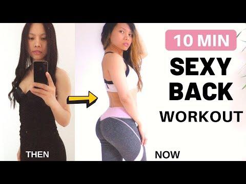 10 MIN Burn Back Fat Workout » Get S-Line Body   No Equipment   Toning Lower Back, Improve Posture