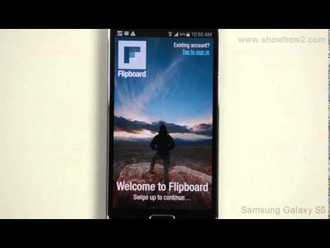 Samsung Galaxy S5 - Connect to Flipboard