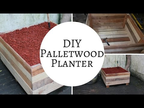 How to make a rustic pallet garden planter box | Pallet Ideas