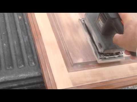 How to Refinish Kitchen Cabinet doors, DIY refinishing
