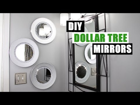 GLAM DIY DOLLAR TREE WALL DECOR DIY Mirror Home Decor Idea