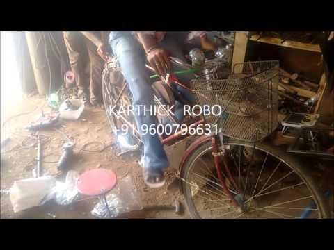 Flywheel bicycle  mechanical project
