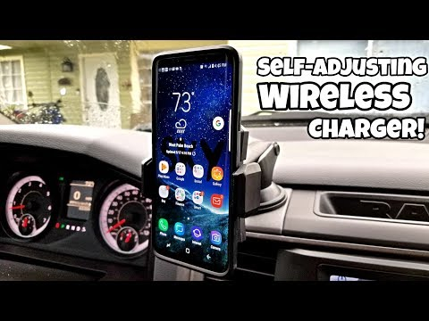Unbelievable Self-Adjusting Car Fast Wireless Charger!