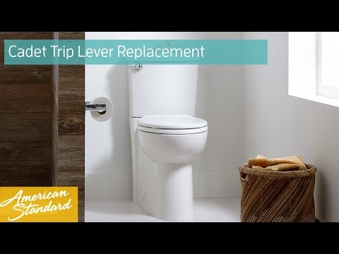 How to Replace a Trip Lever for a Cadet Toilet