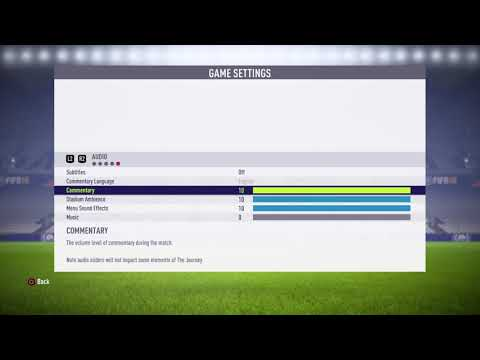 FIFA 18 how to turn of commentary
