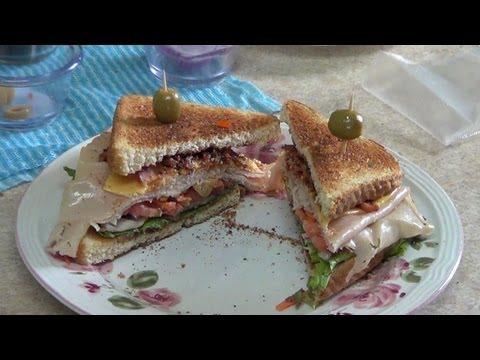 Turkey Club Sandwich - A simple and easy to make popular sandwich. -PekisKitchen