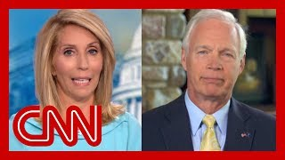 Dana Bash presses Sen. Ron Johnson to disavow President Trump
