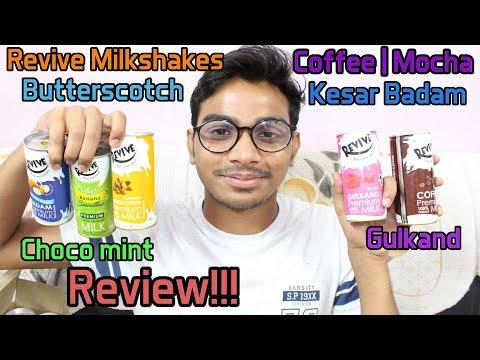 Revive Milkshakes(30) Coffee|Mocha|Butterscotch|Kesar Badam|Gulkand|Choco mint| Review
