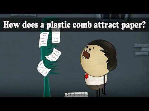 How does a plastic comb attract paper?   Smart Learning for All