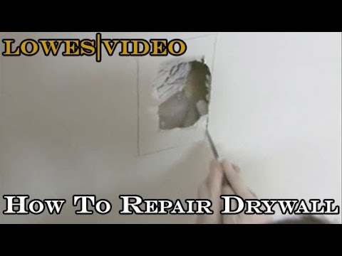 How To Repair Drywall Surface Crack, Small Holes and Large Section Repairs