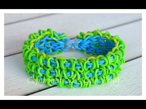 How to make Rainbow Loom Triple Single Loopy bracelet