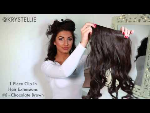 HOW TO : 1 Piece Clip In Hair Extension By Krystellie
