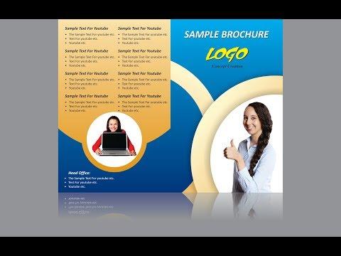 brochure design in coreldraw in hindi | Creative brochure designing in corel draw in hindi