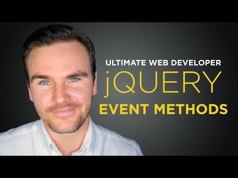 jQuery Event Methods [#5] Ultimate Web Developer Course (Free Tutorial)