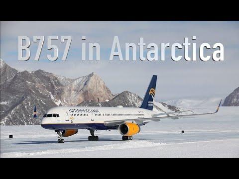 B757 landing in Antarctica