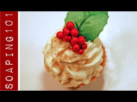 How to Make CP Soap Cupcakes {holiday designs}