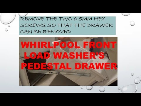 Whirlpool Front Load Washer's Pedestal Drawer Removal