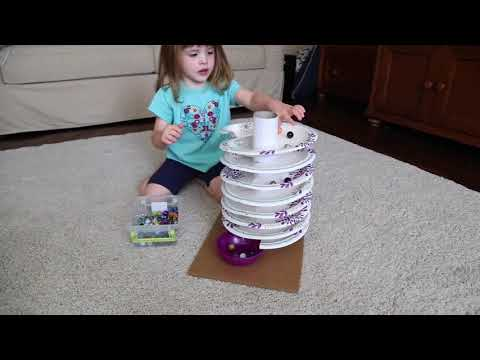Paper Plate Spiral Marble Track