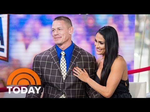 John Cena And Nikki Bella On Their Wedding Plans Following Wrestlemania Engagement   TODAY