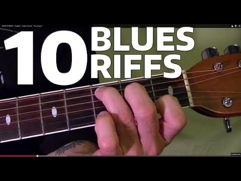 10 MUST LEARN Blues Guitar Riffs - Easy!