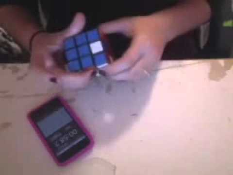 Me solving the rubik's cube
