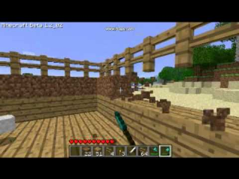 Minecraft Mo' creatures: How to build horse stables