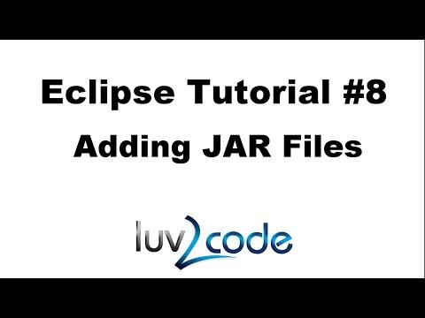 Java Eclipse Tutorial - Part 8: Adding JAR Files