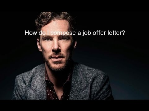 How do I compose a job offer letter?