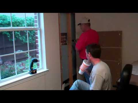 How to Add a Door In An Exterior Brick Wall - Part 1 of 2 Benoah Renovations Video
