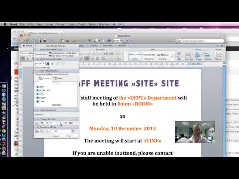 How to DO IT Mail Merge Office 2011 for mac
