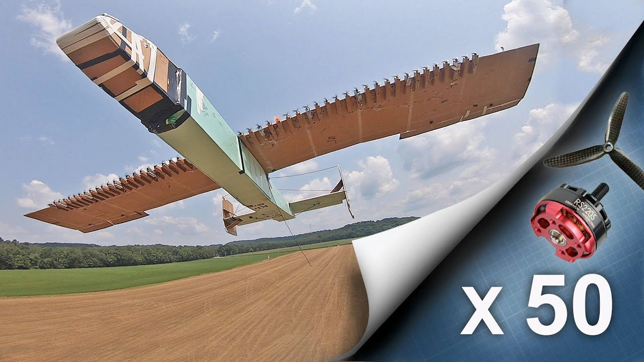 Making 50 Engined RC Airplane (30 ft Wingspan)