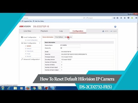Hik-Connect | How To Reset Default Hikvision IP Camera DS-2CD2732 FI(S)