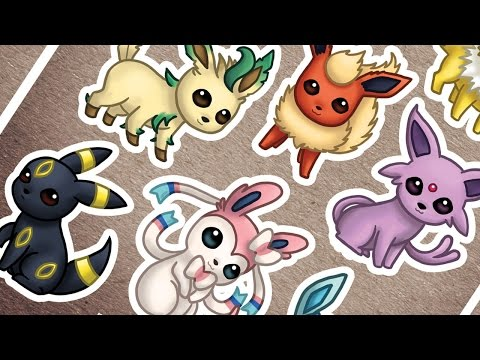 How I Design STICKER SHEETS in Photoshop - EEVEELUTIONS