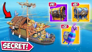 *NEW* SECRET LOOT BOAT!! (OUTSIDE MAP!) - Fortnite Funny Fails and WTF Moments! #949