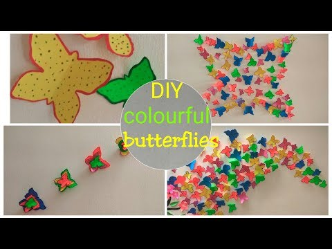 DIY   How to make a perfect butterfly   Home decoration with butterfly   Wall sticker   Kids craft