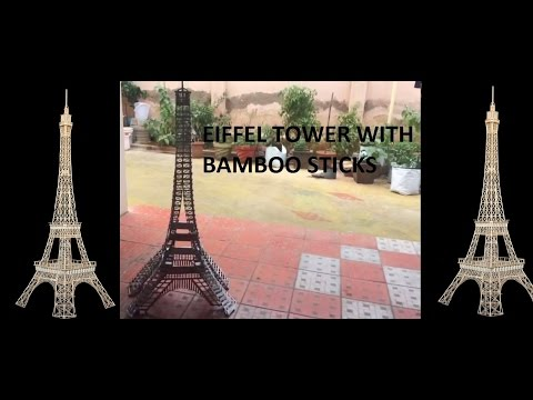 Eiffel tower making | with bamboo sticks|