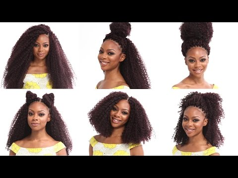 Crochet Braids Tutorial | How to Install and Style X-Pression Kinky Curl Braiding Hair