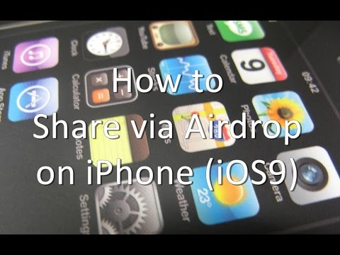 How to Share via Airdrop on iPhone and iPad